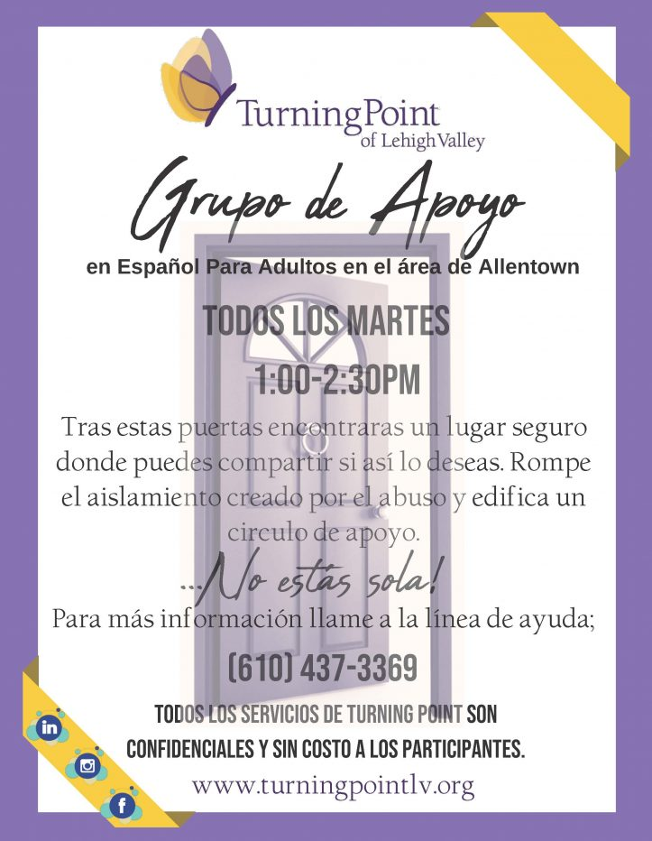 Tuesday Spanish Empowerment Group Flyer Allentown