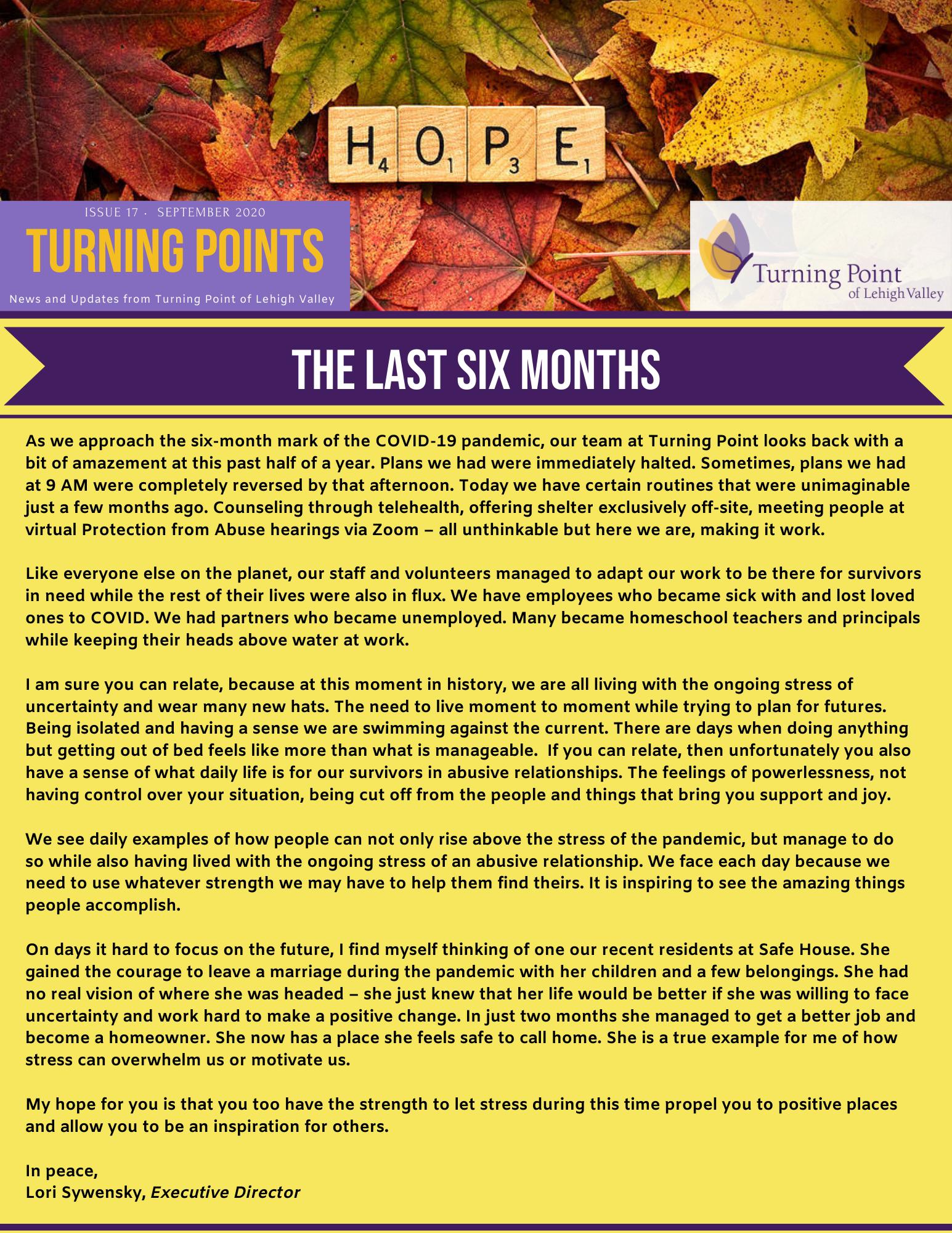 1 Sept. Newsletter