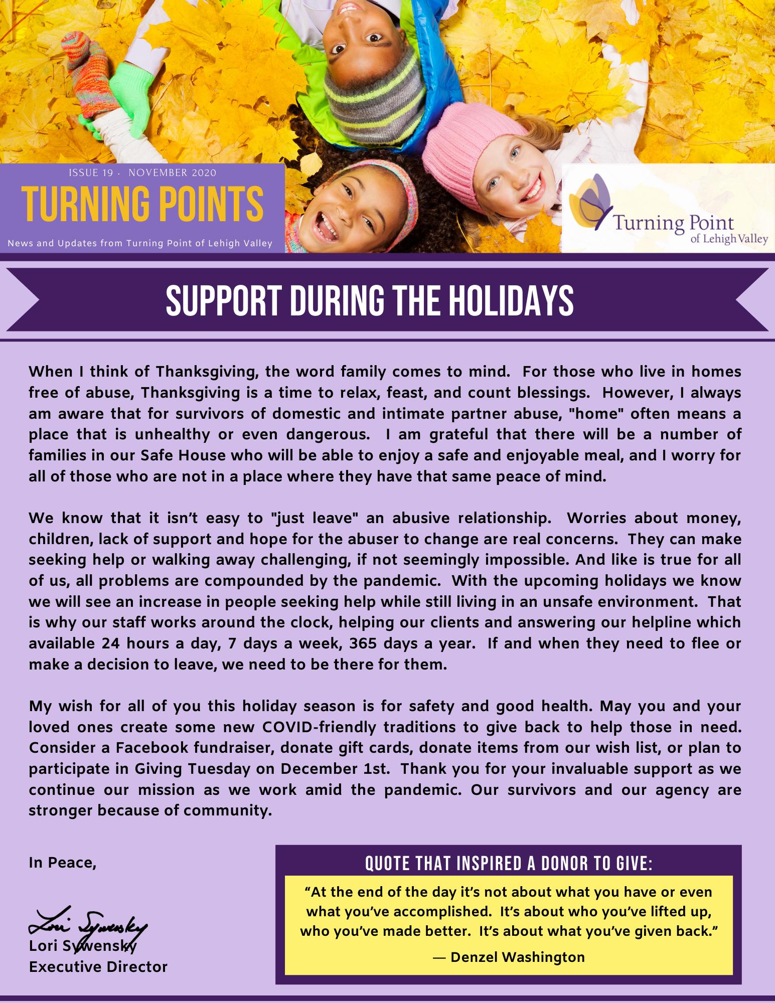 Nov 2020 newsletter page 1