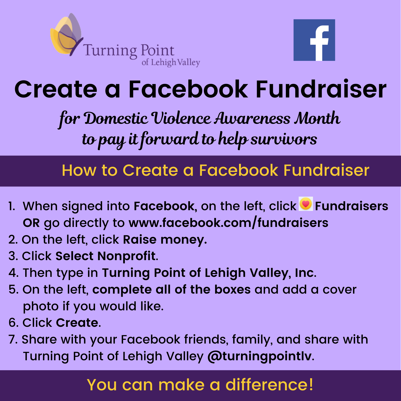 Facebook Fundraiser DVAM